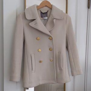 J Crew Stadium Cloth Pea Coat